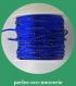 3m queue de rat 2mm bleu roi , fil doré - 3 mètres