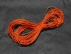 4 m x 1 mm fil coton ciré orange 4 mètres diamètre 1 millimètres