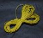 4 m x 1 mm fil coton ciré jaune 4 mètres diamètre 1 millimètres