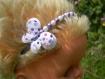 Serre tête papillon violet