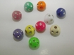 Lot de 10 perles multicolore avec strass
