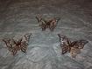 Lot de 3 gdes breloque papillon argenté