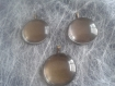 Lot de 3 kits cabochons et son support 25mm bronze
