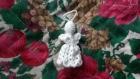 Petit ange brodé blanc à suspendre