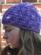 Ensemble mitaines et bonnet violet en mérinos pour jeune fille d : 56cm