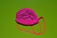 Sac en fourrure synthétique rose fluo