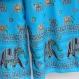 Réservé pantalon ample papillon en viscose blue, et top noir