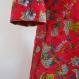 Jupe courte verte anis à fleurs en coton imprimé exotic 36 pans