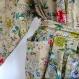 Kimono robe de chambre beige dessin paradise