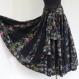 Jupe longue noire et imprimé paradise noir en coton, 45 pans avec écharpe ceinture assortie
