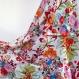 Robe longue blanche à fleurs sans manche, en coton imprimé multicolore