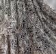 Jupe longue noire et blanche à motifs palmiers en coton avec écharpe assortie