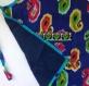 Tablier de cuisine enfant bleu marine et multicolore en coton motifs paisley