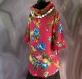 Tunique femme rose fuschia à fleurs à manches longues en coton collection shalimar