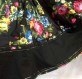 Jupe longue noire à fleurs en coton imprimé shalimar 22 pans