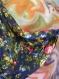 Jupe longue à fleurs bleu marine en coton shalimar 45 pans
