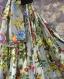 Jupe longue blanche et grise à fleurs avec écharpe en coton shalimar 45 pans
