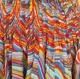 Jupe longue multicolore en coton imprimé motif vagues 45 pans