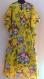 Tunique longue kaftan jaune à fleurs coton imprimé shalimar