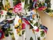 Kimono robe de chambre blanc à fleurs en coton imprimé shalimar