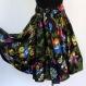 Jupe courte noire à fleurs en coton imprimé shalimar 36 pans