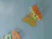 Guirlande décoration baptême papillons 3 dimension assorti au faire-part papillon 3d loane