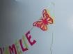 Guirlande décoration baptême papillons 3 dimension assorti au faire-part
