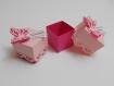 """Ballotins dragées papillons en 3 dimensions fuchsia, et rose pastel modèle """"lina"""" ."""