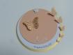 Faire-part rond papillons (modéle laura ) 3 dimensions et ciselés, cercles concentrique personnalisable baptéme, naissance