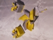 Faire part moulin à vent personnalisé baptême, anniversaire, mariage...jaune soleil et gris