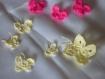 Gros papillon crocheter en coton coloris jaune chine