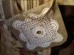 Pochette bandoulière lin et crochet cérémonie