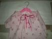 Chemise de nuit fillette tissu petits noeuds