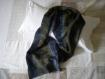 écharpe bleu marine et bronze motifs ethniques