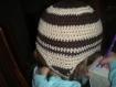 Bonnet à oreilles marron et beige pour enfants