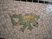 Dessous de plat mosaïque lézard vert sur fond gris
