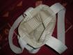 Sac bandoulière tissu façon boutis application tissu coloré´