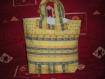 Grand cabas jaune tissu provençal