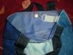 Tote bag patch motif bateaux, tons de bleus