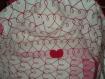 Cabas en toile rose rayé gris