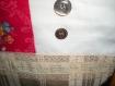 Sac patché tissus anciens boutons nacre, dentelle