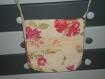 Grand sac à mains bandoulière tissu fleuri, chic et élégant