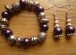 Parure ref bb5 : bracelet et boucles d'oreilles assortis