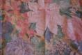 Coupon de tissus à fleur rose et bleu 100% coton