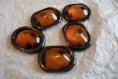 Perles ovales coloris ambre pour créations
