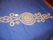 """"""" arabesque """"napperon naturel au crochet en dentelle de bruges"""