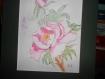 """""""pivoine rose """" tableau à l'aquarelle"""