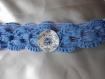 Ceinture au crochet fil ruban bleu