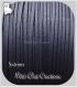 3m cordon suÉdine daim velvet fil textile bleu foncÉ facon cuir 3x1mm *c187