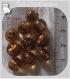 10 perles rondes marron cafÉ verre lampwork 8-9mm feuille argent *l305